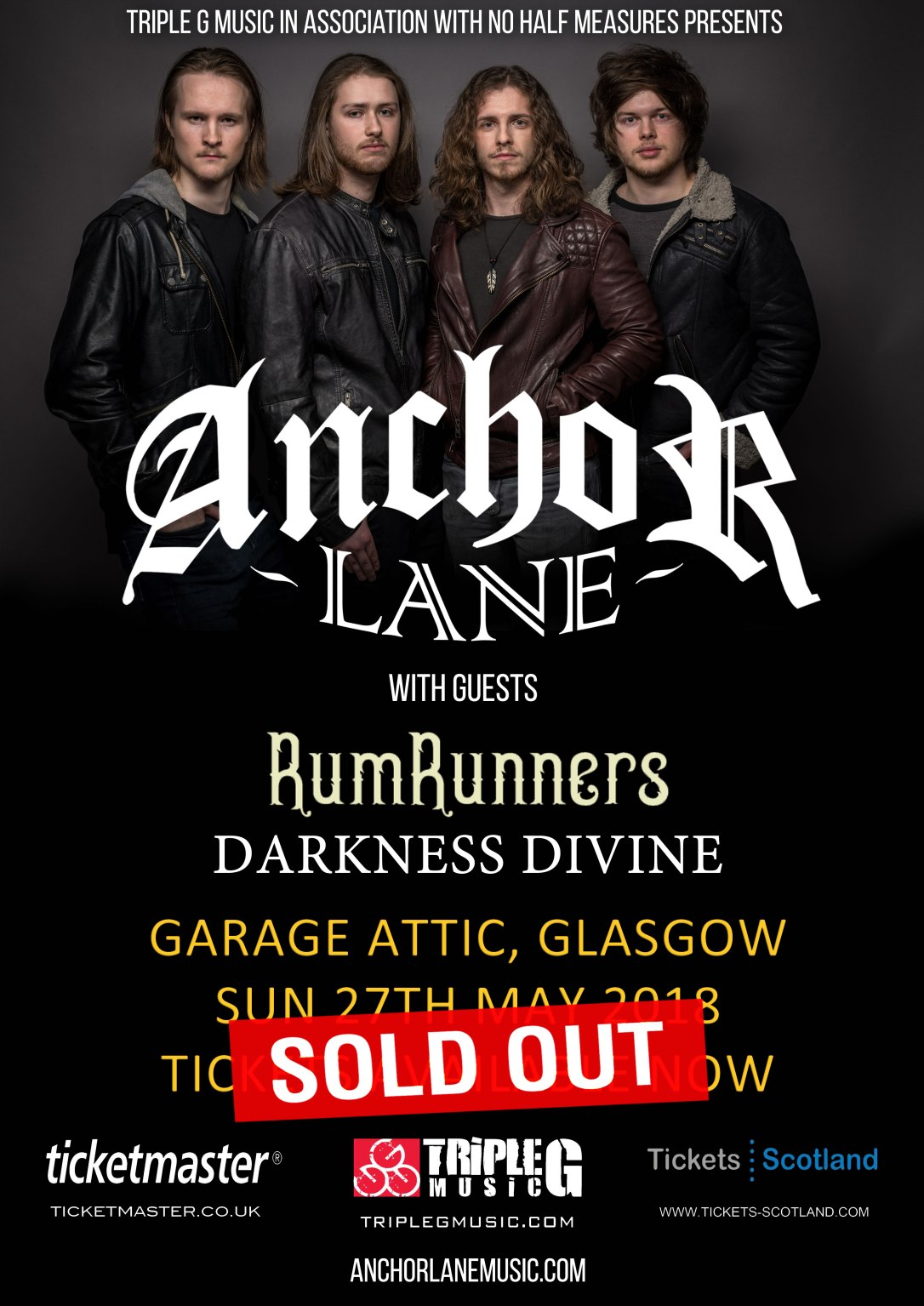 Anchor Lane Glasgow Sold Out